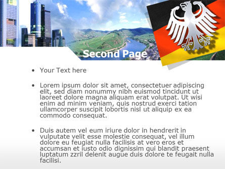 Germany PowerPoint Template, Slide 2, 00173, Flags/International — PoweredTemplate.com