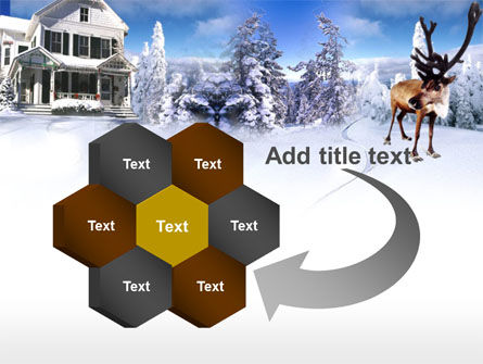 Christmas Deer PowerPoint Template Slide 11