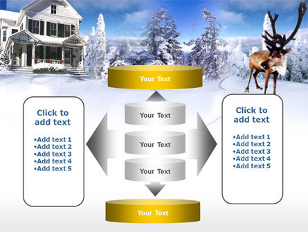 Christmas Deer PowerPoint Template Slide 13