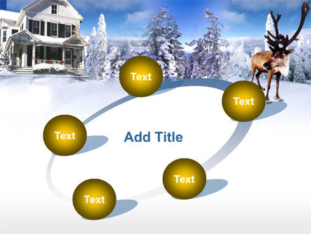 Christmas Deer PowerPoint Template Slide 14