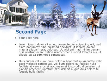Christmas Deer PowerPoint Template, Slide 2, 00174, Holiday/Special Occasion — PoweredTemplate.com