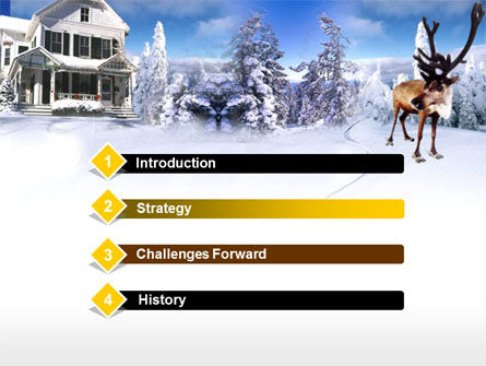 Christmas Deer PowerPoint Template, Slide 3, 00174, Holiday/Special Occasion — PoweredTemplate.com