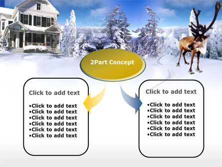 Christmas Deer PowerPoint Template, Slide 4, 00174, Holiday/Special Occasion — PoweredTemplate.com