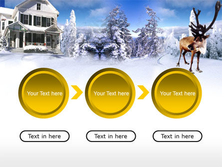 Christmas Deer PowerPoint Template Slide 5
