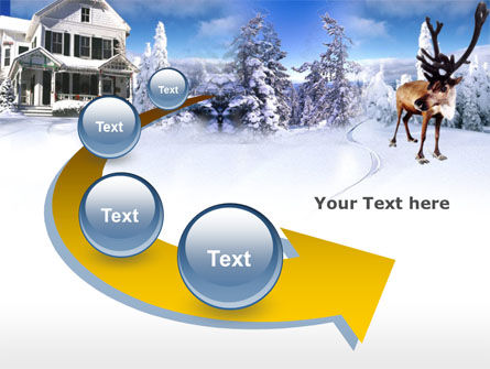 Christmas Deer PowerPoint Template Slide 6