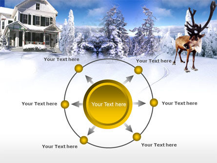 Christmas Deer PowerPoint Template Slide 7