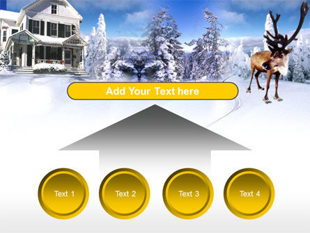 Christmas Deer PowerPoint Template Slide 8