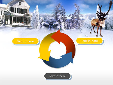 Christmas Deer PowerPoint Template Slide 9