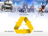 Christmas Deer PowerPoint Template#10