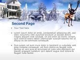 Christmas Deer PowerPoint Template#2