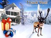 Christmas Deer PowerPoint Template#20