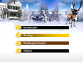 Christmas Deer PowerPoint Template#3