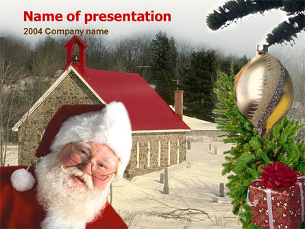 Santa Claus PowerPoint Template, 00178, Holiday/Special Occasion — PoweredTemplate.com