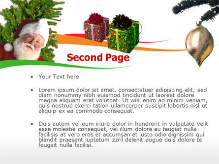 Santa Claus PowerPoint Template, Slide 2, 00178, Holiday/Special Occasion — PoweredTemplate.com