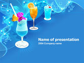Food & Beverage: Party Cocktails PowerPoint Template #00181