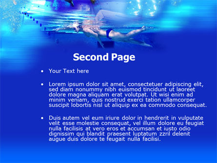 Front Crawl PowerPoint Template, Slide 2, 00182, Sports — PoweredTemplate.com