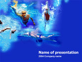 Sports: Front Crawl PowerPoint Template #00182