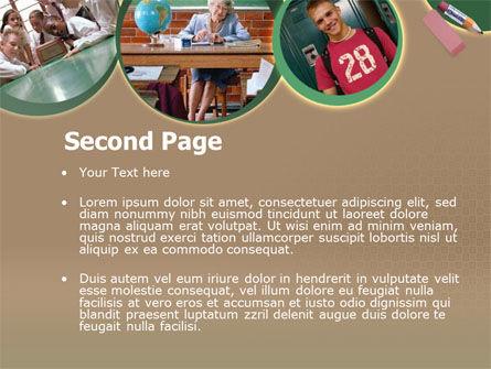 School Study PowerPoint Template, Slide 2, 00184, Education & Training — PoweredTemplate.com