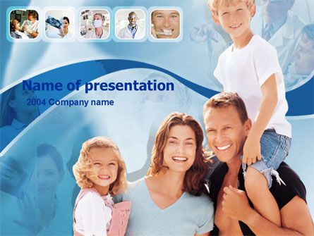 Family Health PowerPoint Template, 00185, Medical — PoweredTemplate.com