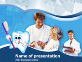 Abstract/Textures: Oral Health Education PowerPoint Template #00186