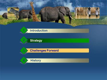 African Animals PowerPoint Template, Slide 3, 00187, Animals and Pets — PoweredTemplate.com