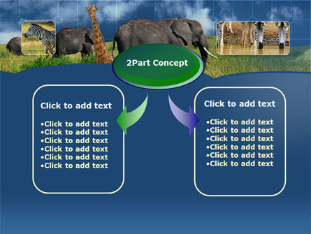African Animals PowerPoint Template, Slide 4, 00187, Animals and Pets — PoweredTemplate.com