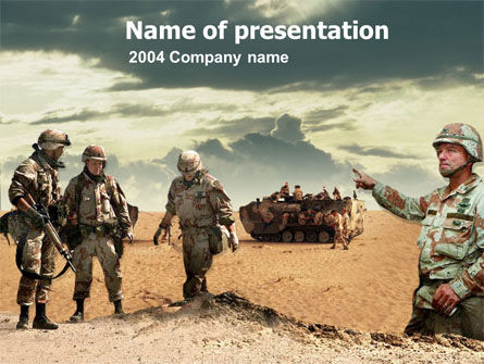 Desert Operation Powerpoint Template Backgrounds 00189