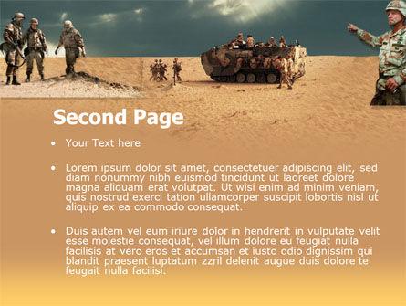 Desert Operation PowerPoint Template, Slide 2, 00189, Military — PoweredTemplate.com