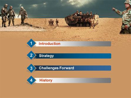 Desert Operation PowerPoint Template, Slide 3, 00189, Military — PoweredTemplate.com