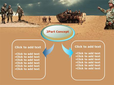 Desert Operation PowerPoint Template, Slide 4, 00189, Military — PoweredTemplate.com