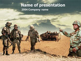 Military: Desert Operation PowerPoint Template #00189
