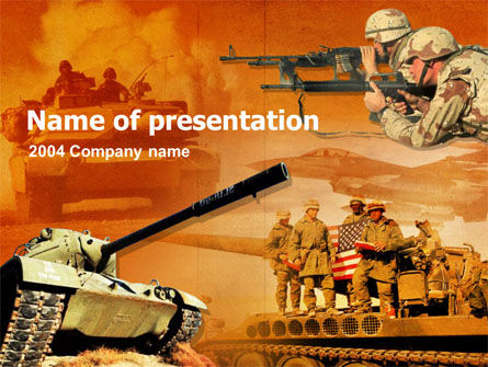 US Army Operations PowerPoint Template, 00190, Military — PoweredTemplate.com