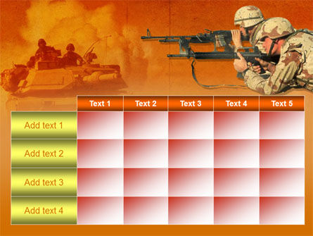 US Army Operations PowerPoint Template Slide 15