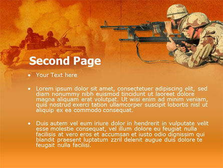 US Army Operations PowerPoint Template, Slide 2, 00190, Military — PoweredTemplate.com