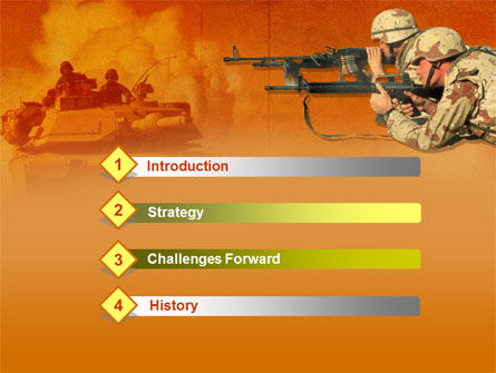 US Army Operations PowerPoint Template, Slide 3, 00190, Military — PoweredTemplate.com