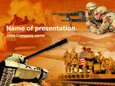 US Army Operations PowerPoint Template#1