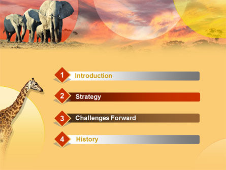 African Wildlife PowerPoint Template, Slide 3, 00191, Animals and Pets — PoweredTemplate.com