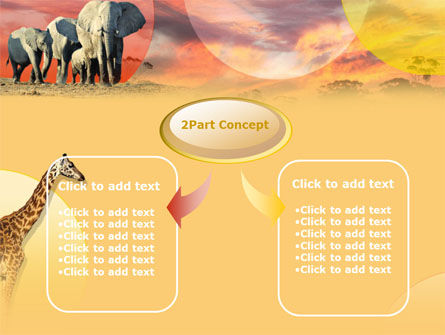 African Wildlife PowerPoint Template, Slide 4, 00191, Animals and Pets — PoweredTemplate.com