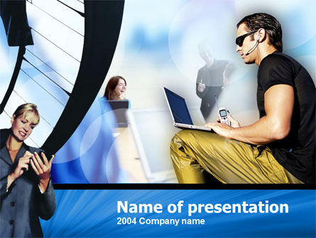 Working out of Office PowerPoint Template
