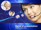Telecommunication: Call Center Services PowerPoint Template #00195