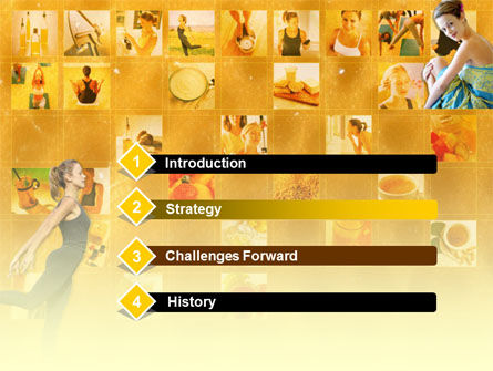 Woman in Shape PowerPoint Template, Slide 3, 00196, Sports — PoweredTemplate.com