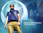 Careers/Industry: Modern Person PowerPoint Template #00197