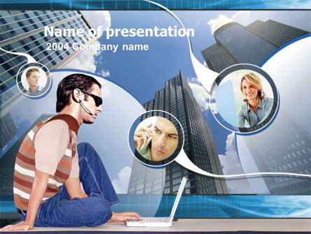 Telecommunication: Outsourcing PowerPoint Template #00198