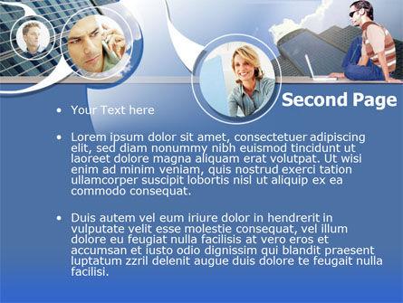 Outsourcing PowerPoint Template, Slide 2, 00198, Telecommunication — PoweredTemplate.com