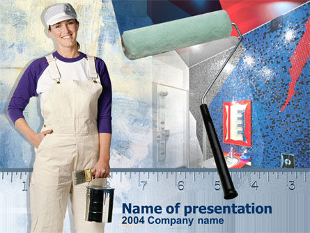 Home Remodeling PowerPoint Template, 00200, Careers/Industry — PoweredTemplate.com