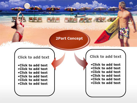 Surfing Beach Free PowerPoint Template, Slide 4, 00201, Sports — PoweredTemplate.com