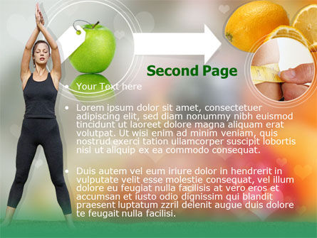 Slimming Tips PowerPoint Template, Slide 2, 00202, Sports — PoweredTemplate.com