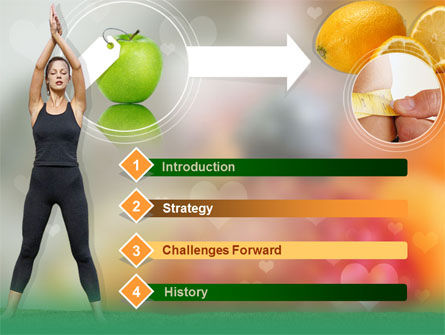 Slimming Tips PowerPoint Template, Slide 3, 00202, Sports — PoweredTemplate.com