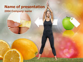 Sports: Slimming Tips PowerPoint Template #00202