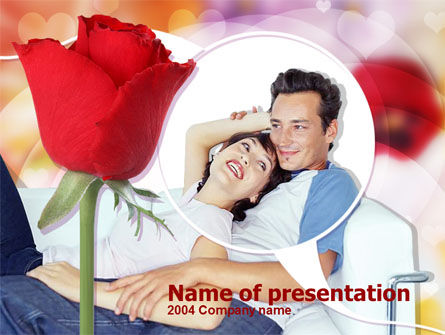 Holiday/Special Occasion: Happy Couple PowerPoint Template #00203